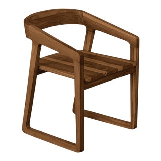 Ebb and Flow Celine Dining Chair in Dark Teak For Sale