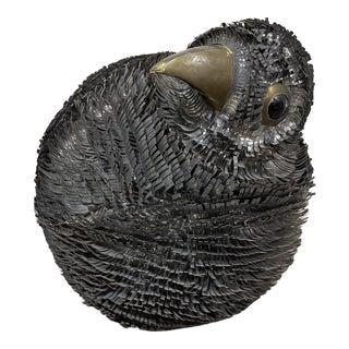 Sergio Bustamante Strip Metal Brutalist Bird For Sale