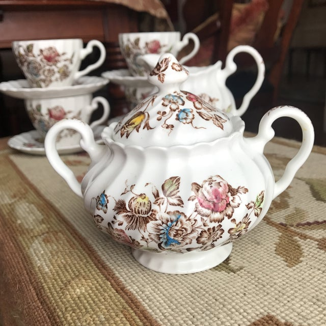 Staffordshire Bouquet England Tea / Coffee Set - 11 Piece For Sale In Boston - Image 6 of 9