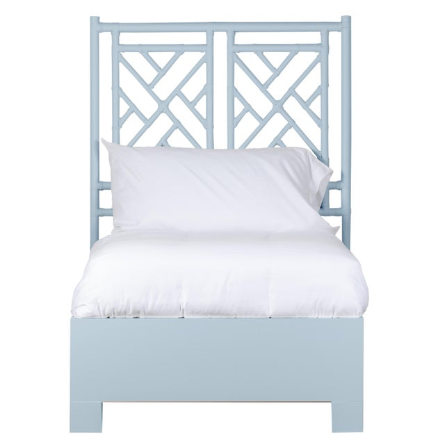 A timeless design, this Chinoiserie styled bed features a Rattan headboard with a Maple Bed Frame. The Rattan headboard is...