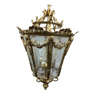 French Louis XVI Style Gilt Bronze Lantern For Sale