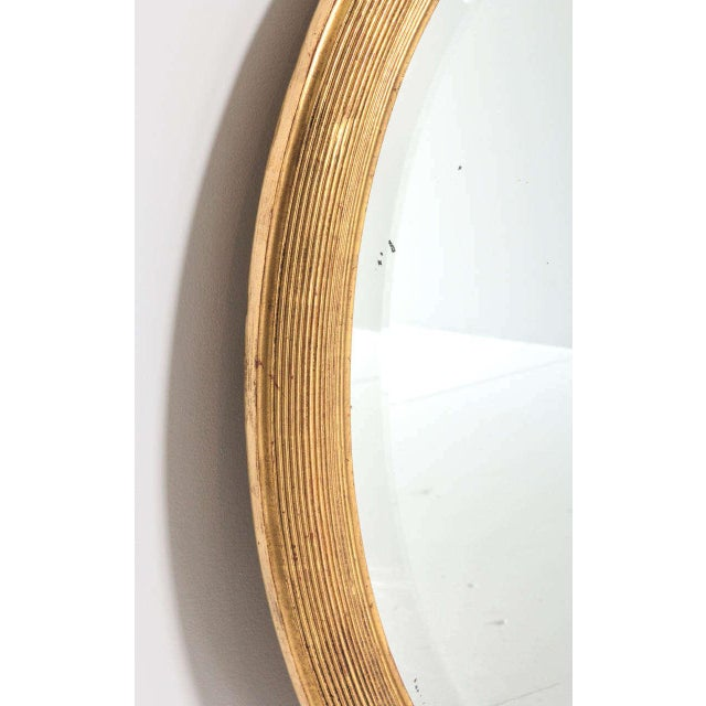 French 19th Century Oval Mirror with Gilt Frame For Sale - Image 9 of 11