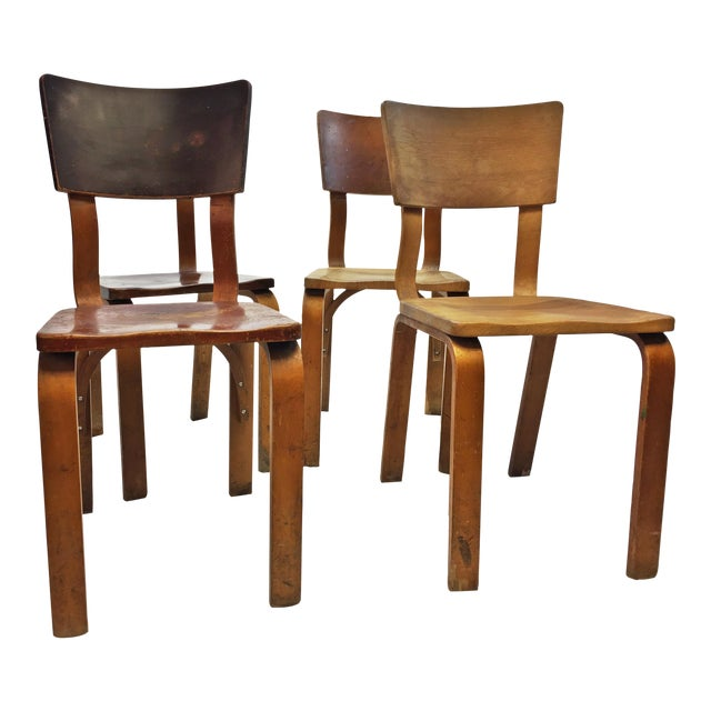 mid century modern thonet bentwood chairs set of 4 chairish