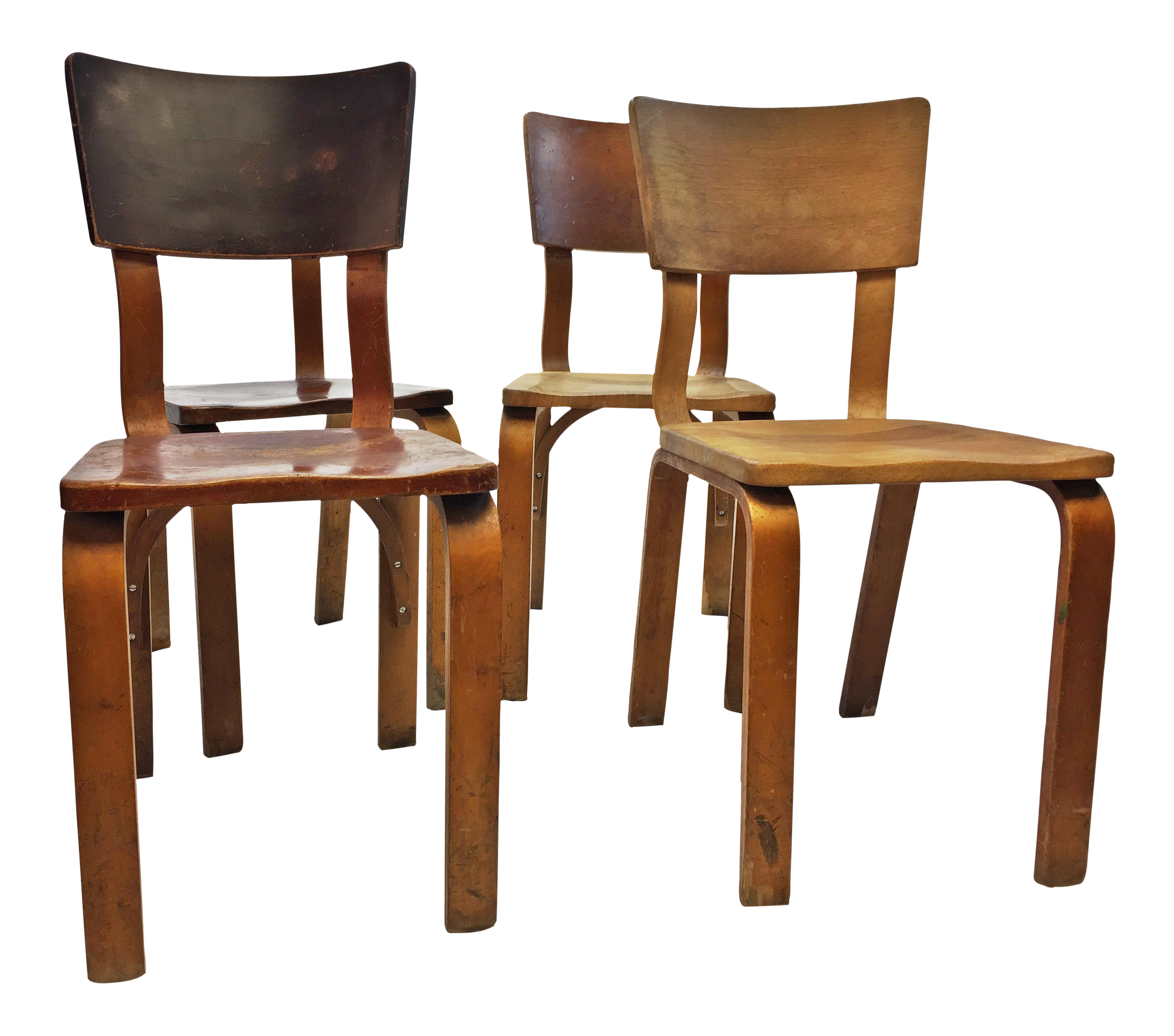 Mid Century Modern Thonet Bentwood Chairs   Set Of 4   Image 1 Of 13