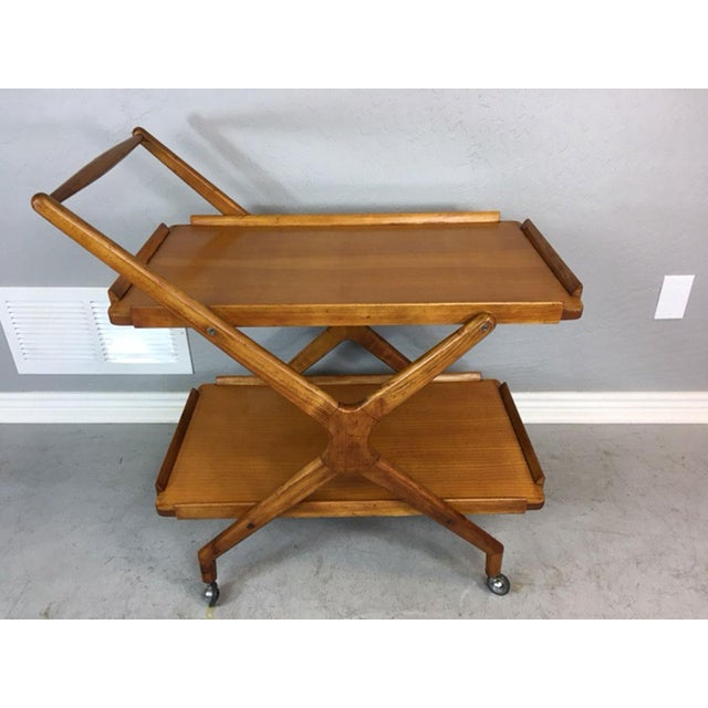 Italian Fruitwood Bar Cart - Image 2 of 9