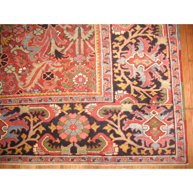 Antique Persian Heriz Rug - 8′4″ × 10′11″ - Image 10 of 11