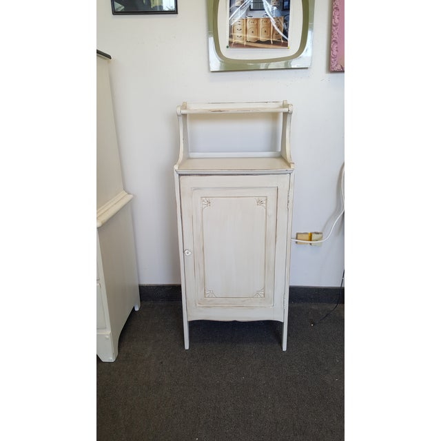 Vintage Painted Storage Cabinet For Sale - Image 9 of 9