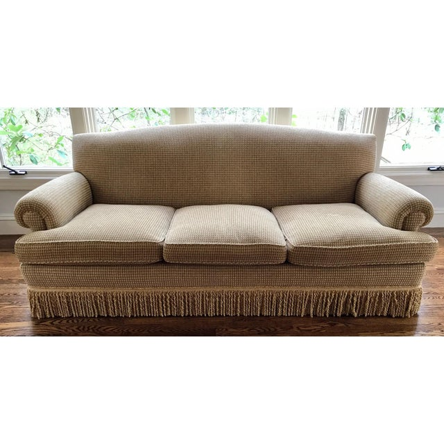 Matching Brunschwig Oxford sofa and loveseat custom done in gold chenille fabric Original retail over $15K Condition of...
