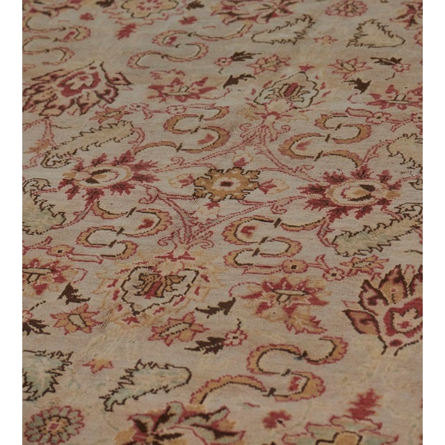 Traditional Handwoven Revival Agra Style Wool Rug For Sale - Image 3 of 13
