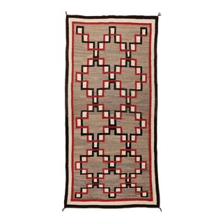 "Vintage 1930s Navajo Wool Rug- 4'1"" X 8'5"" For Sale"