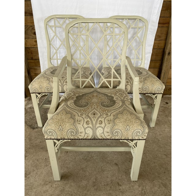 Clive Daniel Fretwork Chairs - Set of 3 For Sale - Image 13 of 13