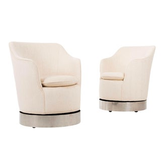 Philip Enfield Rotating Swivel Chairs - A Pair For Sale