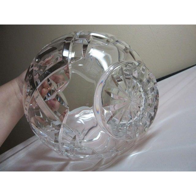 Clear Cut Crystal Rose Bowl Vase - Image 5 of 10