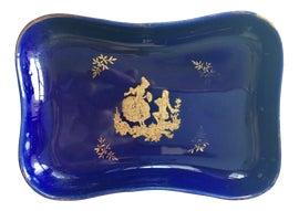 Image of Navy Blue Ashtrays and Catchalls