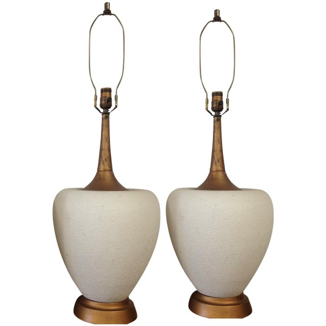 Art Deco Gilded Lamps - Pair - Image 1 of 5