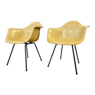 Pair of Circa 1960s Charles Eames Fiberglass Shell Armchair for Herman Miller For Sale