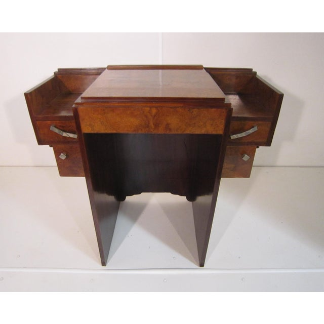 Early 20th Century French Art Deco Writing Vanity Desk For Sale In New York - Image 6 of 13