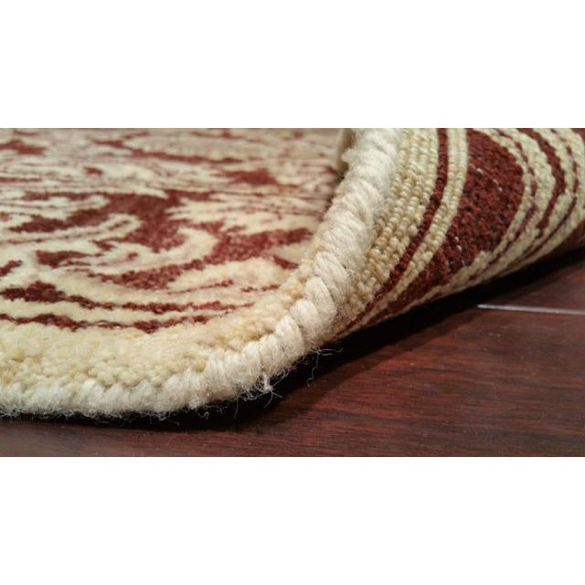 Traditional Hand Made Knotted Rug - 6x9 - Image 4 of 4