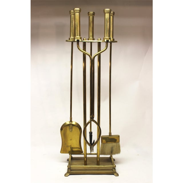 Mid-Century Modern Mid-Century Modern Brass Fire Tools For Sale - Image 3 of 10