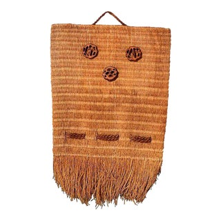 Native American Woven Bag Wall Hanging For Sale
