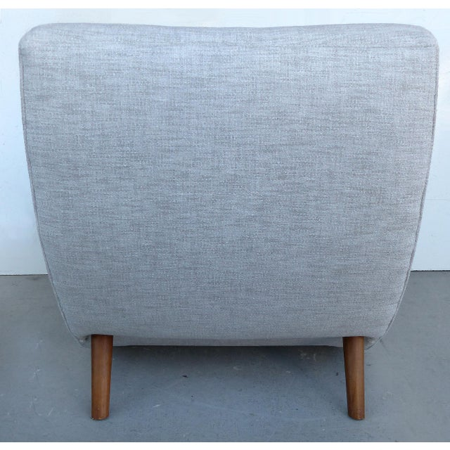 Mid-Century Modern Upholstered Club Chairs-a Pair - Image 6 of 10