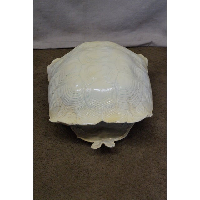 Paint Mid-Century Faux Turtle Shell Wall Sculptures - A Pair For Sale - Image 7 of 10