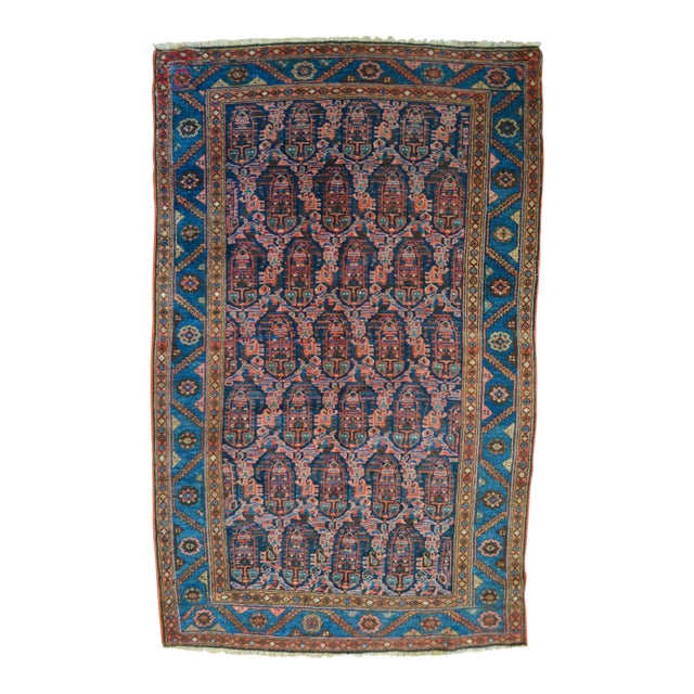 """Paisley Antique Persian Malayer Rug - 3'10"""" X 6'4"""" - Image 1 of 8"""