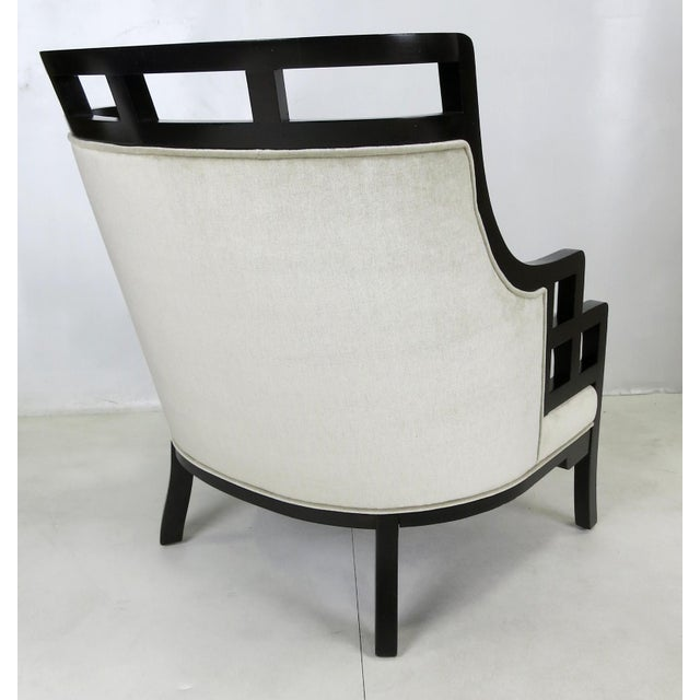"""1980s """"Wallis Simpson"""" Lounge Chair and Ottoman by Jay Spectre For Sale - Image 5 of 6"""
