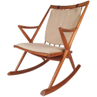 Frank Reenskaug for Bramin Mobler Mid-Century Modern Danish Rocking Chair For Sale