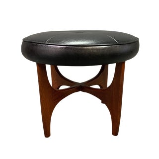 "Vintage Mid Century Modern Teak ""Astro"" Ottoman by G Plan For Sale"