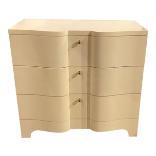 Henredon Curvaceous Cream Serpentine Chest For Sale