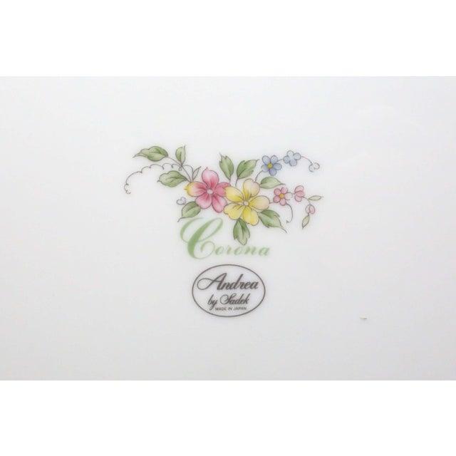 "Ceramic Vintage ""Corona"" Floral Chintz Serving Pieces by Sadek - Set of 3 For Sale - Image 7 of 11"