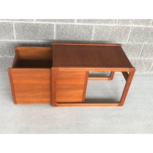 Wood Danish Modern Wood File Cart For Sale - Image 7 of 9