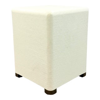 Made Goods Modern Bailey Ivory Basket Weave StooL For Sale