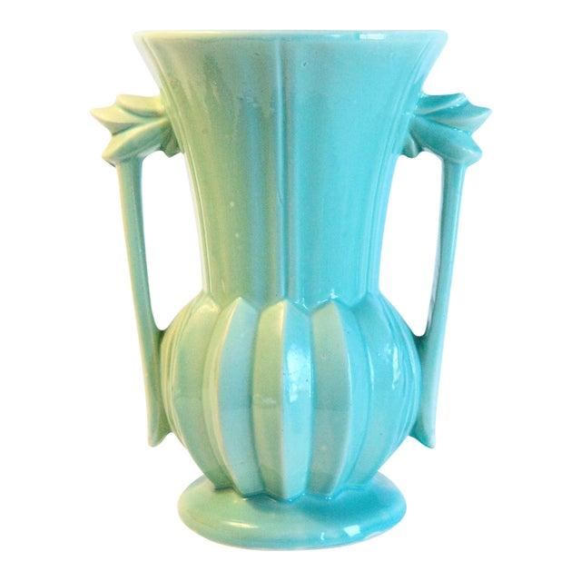 Vintage Aqua Mccoy Vase Usa Chairish