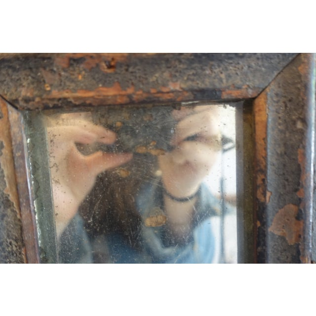 Primitive Wood Mirror For Sale - Image 12 of 13