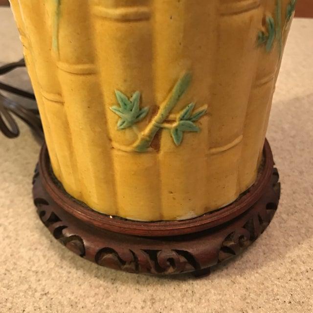 Asian Bamboo Motif Lamp - Image 9 of 11