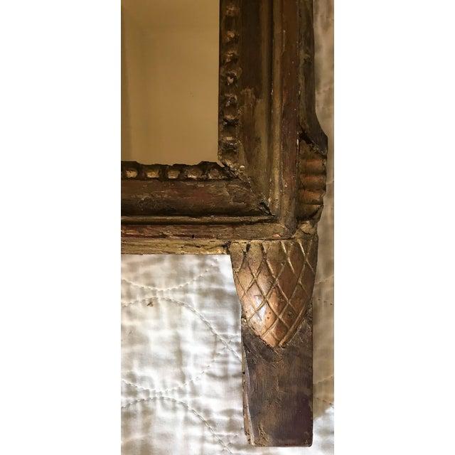 Wood Petite Louis XVI Giltwood Mirror For Sale - Image 7 of 8