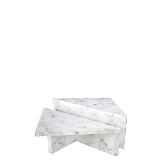 White Grace Modern Coffee Table - a Pair For Sale - Image 8 of 8