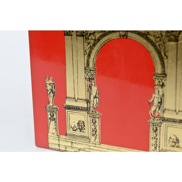 """Mid-Century Modern Pair of Fornasetti Roman Classical """"Porta"""" Metal Bookends For Sale - Image 3 of 9"""