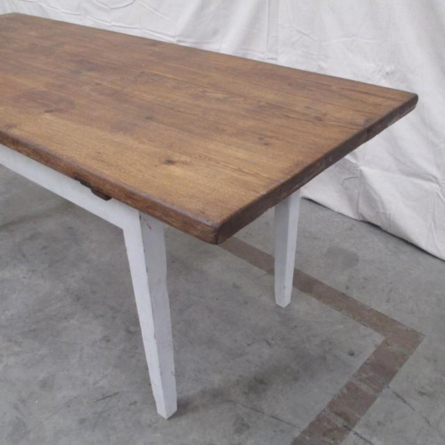 Antique Danish Rustic Painted Dining Table For Sale - Image 4 of 9
