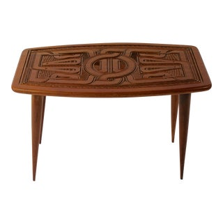 Hand-Carved Mahogany Occasional Table or Coffee Table