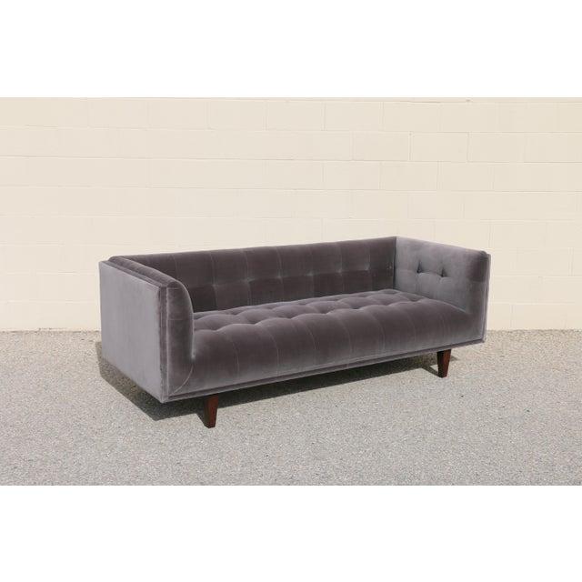 Modern Velvet Tufted Sofa - Image 3 of 10