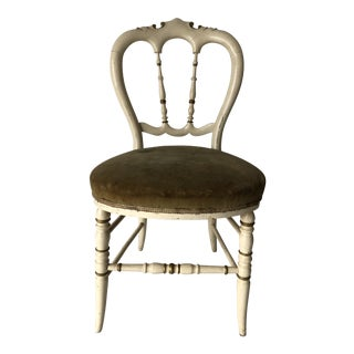 Hollywood Regency Side Chair Distressed From Use For Sale