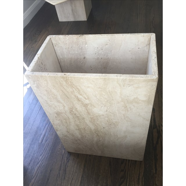 Italian Travertine Marble Console Table - Image 8 of 8