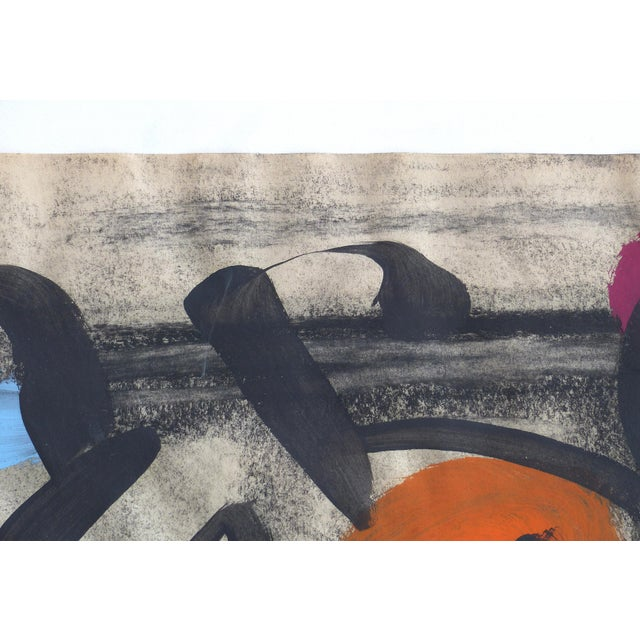 1960s Abstract Mixed Media Painting by Peter Robert Keil For Sale In Miami - Image 6 of 9