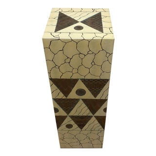 Faux Marble and Stone Decorative Pedestal For Sale