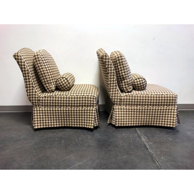 Theodore Alexander Theodore Alexander Althorp Living History Herringbone Slipper Chairs For Sale - Image 4 of 13