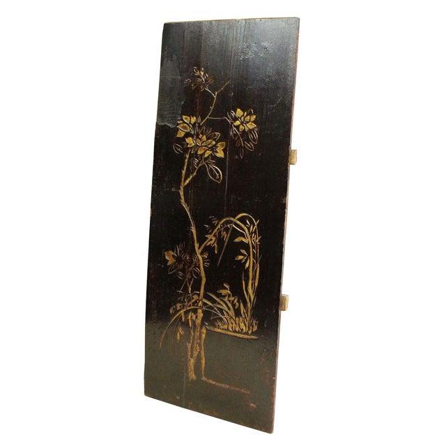 Vintage Restored Flower Carving Wood Panel For Sale - Image 5 of 7