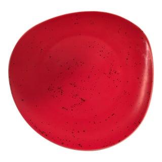Schonwald Splatter Glaze Abstract Red Platter